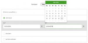 Screenshot SKODA Connect Fahrdaten