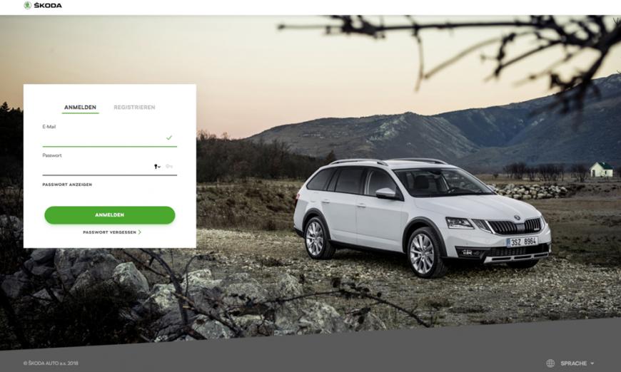 Anmeldung im neuen ŠKODA Connect Portal