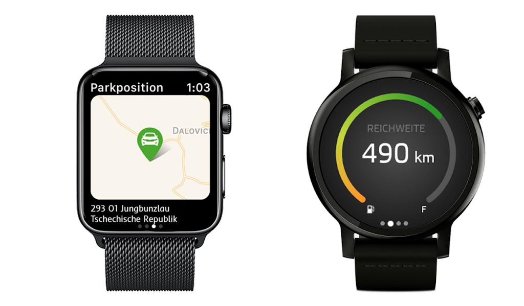 ŠKODA Connect App auf der Smartwatch