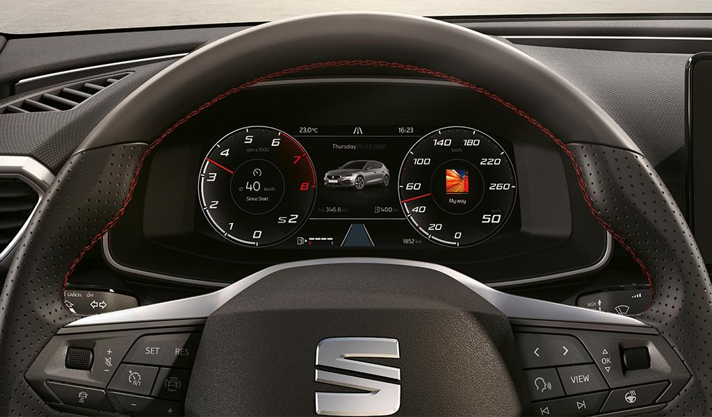 Hochauflösendes SEAT Digital Cockpit