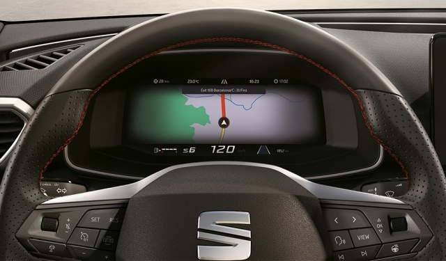 Navigationssystem wird im SEAT Digital Cockpit angezeigt