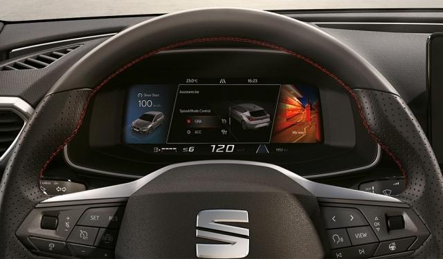SEAT Digital Cockpit mit TFT-Display für flüssige Bildübergänge